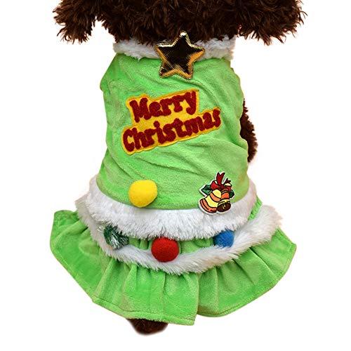 Shiningbaby Frohe Weihnachten Haustier Kleid warme Kleidung Hund Mädchen Kostüme 2-beinige ärmellose niedliche Bekleidung Holiday Party - Niedliche Mädchen Hunde Kostüm