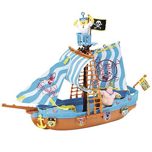 Bob Esponja - Barco Pirata, Incluye Figura de Bob y Patricio (Simba 9496292)