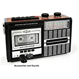 Ricatech PR85 - Lecteur cassette portable et enregistreur avec haut-parleur intégré 8 Watt | Radio 3 bande AM/FM/SW, Port carte USB et SD et Microphone intégré avec enregistrement