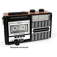 Ricatech PR85 - Back to The 80s - Reproductor y Grabador de casetes | Radio Am/FM / SW, Ranura USB, Tarjeta SD y micrófono Integrado