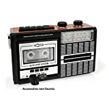 Ricatech PR85 - Back to the 80's - Lettore di Cassette Portatile e Registratore con Altoparlante 8 Watt Incorporato | AM/FM/SW 3 Band Radio, Slot USB & Scheda SD e Microfono Integrato con Funzione di Registrazione