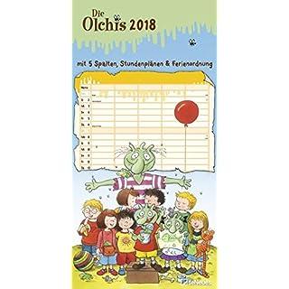 Die Olchis 2018 - Familienplaner, Spaltenkalender, Kalender für Kinder - 23 x 45,5 cm