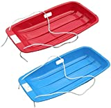 Pack of 2 'Snow Speeder' Plastic Sled - Blue & Red