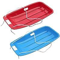 Pack of 2 'Snow Speeder' Plastic Sled - Blue & Red