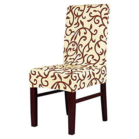KING DO WAY Removable Chair Cover Slipcovers Stretch Seat Protector for Home Dining Room Stool Flat