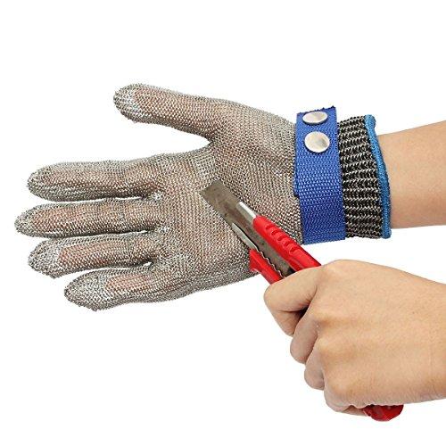 Guanti antitaglio protezione mohoo alta prestazione cut sicurezza proof stab resistente in acciaio inossidabile maglia del metallo butcher glove clip
