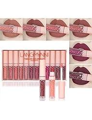 TOPBeauty 12 Couleurs Rouge à Lèvres Beauté Brillant Lip Gloss Mat Liquide Lipstick Matte Longue Tenue Gloss Rouge à Lèvres Beauty Lip Set de maquillage