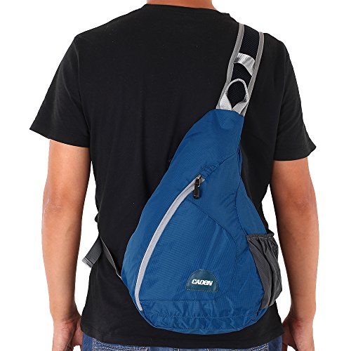 Lixada Sporttasche aus Nylon Sling Dreieck Schulter Rucksack Truhen Blau