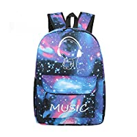 Mily Galaxy Pattern Backpack Canvas Tie Dye School Bag Rucksack