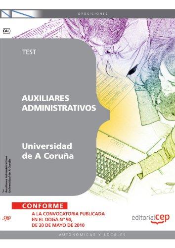 Auxiliar Administrativo Universidad de A Coruña. Test (Colección 807) por Sin datos