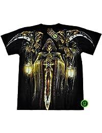 "T-Shirt Rock ""Glow in the dark"" Chang Rock Eagle Heavy Metal Biker Tattoo Rocker Gothic (4015)"