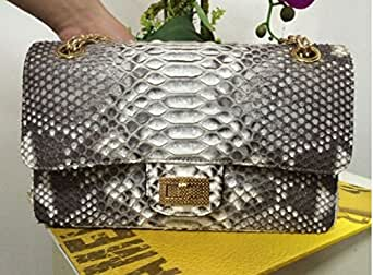 Authentic Python Skin Clutch Bag for Women (white)
