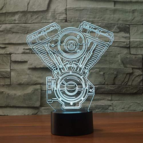 orangeww Motorrad 3D Visuelle Led-nachtlicht Für Kinder USB Flugzeug Motor Tischlampe Baby Schlafen Beleuchtung Wohnkultur Licht leuchten -