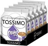 TASSIMO Milka Hot Chocolate 8 T DISCs (Pack of 5, Total 40 T DISCs) 40 Servings