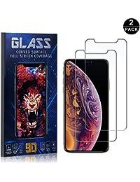 Bear Village® Protector de Pantalla iPhone X/iPhone XS, 9H Cristal Templado, Anti-Golpe, Transparente Protector de Pantalla para Apple iPhone X/iPhone XS, 2 Piezas