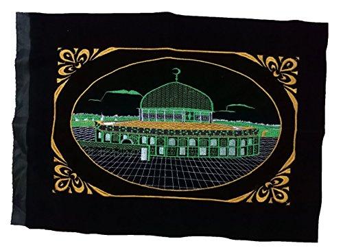 oster amn054AL-Aqsa-Moschee Bild Besticktes Islamische Kunst Muslim Gift House Decor-Ohne Rahmen 53 x 75 cm. Grün ()