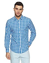 United Colors of Benetton Men's Checkered Regular Fit Casual Shirt