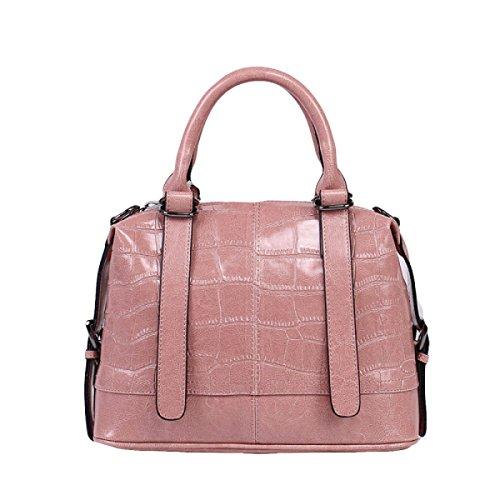 Leder Handtaschen Handtaschen Umhängetasche Messenger Bag Brieftasche Mode Freizeit Im Freien Wild Pink