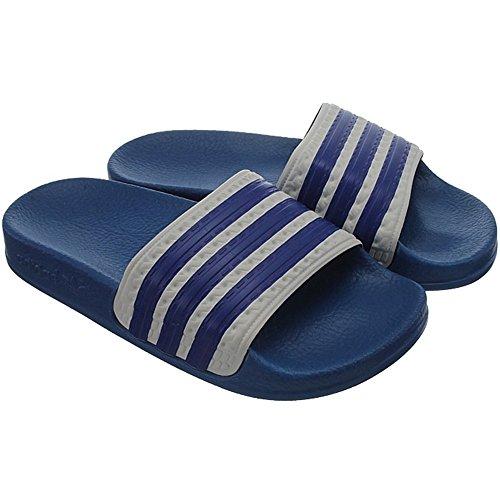 adidas Adilette K, Ciabatte da spiaggia bambini Azzuro-Bianco