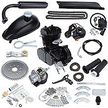 Ambienceo 50cc 2 ciclos de pedaleo Kit de conversión de bicicleta de gasolina para motor de gasolina para bicicleta motorizada negra