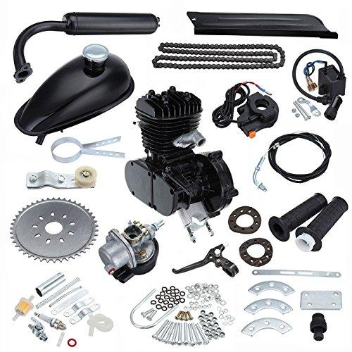 Ambienceo 50cc 2 tempi ciclo pedale Benzina Gas motore Kit conversione bici per moto nero motorizzato
