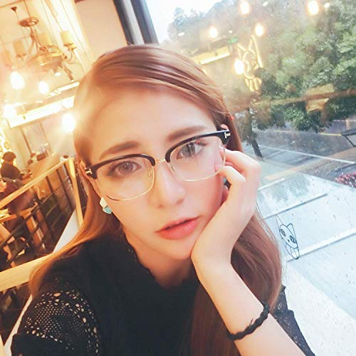 100 nehmen Sie einen kurzsichtigen und anastigmatischen Spiegel der weiblichen Brille Rahmen rundes Gesicht Flut Person 's Stil T Wort Halbbild Han Ban Brille