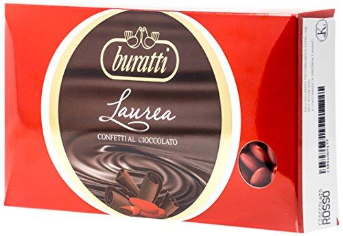 Buratti confetti al cioccolato, rosso - 2 confezioni da 1000 g