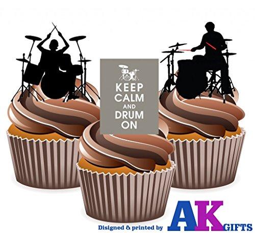 cupcake-dekoration-keep-calm-schlagzeug-essbare-cupcake-dekorationen-packung-mit-12-stuck