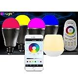 LIGHTEU 4x WLAN LED Lampe original LIGHTEU® Color RGB- Warm