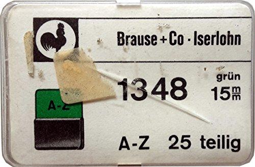 Brause Reiter 1348, 15mm grün, A-Z, 25 teilig