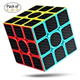 CFMOUR Speed Cube, 3x3x3 Carbon Fiber Sticker Smooth Magic Rubiks 3D Puzzle Cube