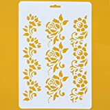 Asian Hobby Crafts Craft Stencils for Sketching, Scrapbooking, Kids Crafts (A4, Abstract D)