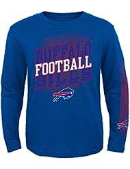 "Buffalo Bills Youth Jeunes NFL ""Frequency"" Long Sleeve T-Shirt Chemise"