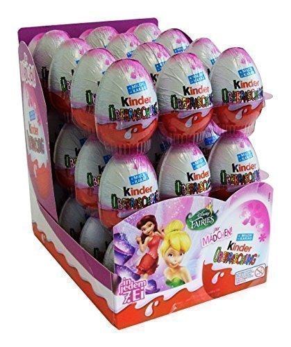 Kinder Sorpresa Ovetto di Cioccolato 20gr con Fate Disney (Pacco da 36 Ovetti)