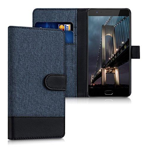 kwmobile OnePlus 3 / 3T Hülle - Kunstleder Wallet Case für OnePlus 3 / 3T mit Kartenfächern und Stand