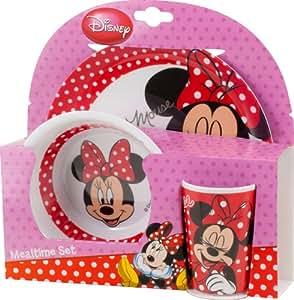 disney minnie mouse ensemble de vaisselle pour enfants 3 tlg geschirrset melamin. Black Bedroom Furniture Sets. Home Design Ideas