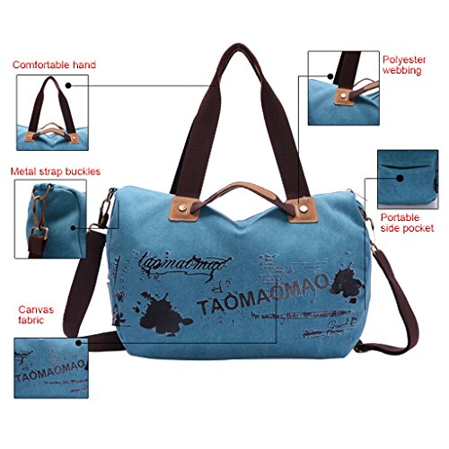 Lifebe BG semplice Cool-Borsa a tracolla in tela, borsa blu blu