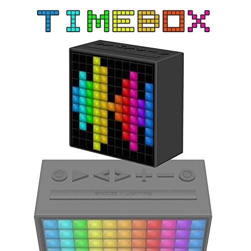 TimeBox Bluetooth Handy Lautsprecher Musikbox Animierte Einstellbare LED Matrix, Social Media, Emoji
