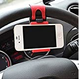 GKP Products ® NMount C1 Universal Car Steering Wheel Mount Mobile Phone Socket Holder For Apple IPhone, Samsung, Xiaomi Redmi MI, Lenovo, Oneplus, Huawei, Coolpad, Zenfone, LeTV, Micromax, YU And Suits All Smatphones, Mobile Phones Upto 5.5 Inches