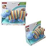 Mattel Fisher Price 40841 40842 Schmusetuch Nilpferd Giraffe Kuscheltier Spielzeug , Farbe:Blau