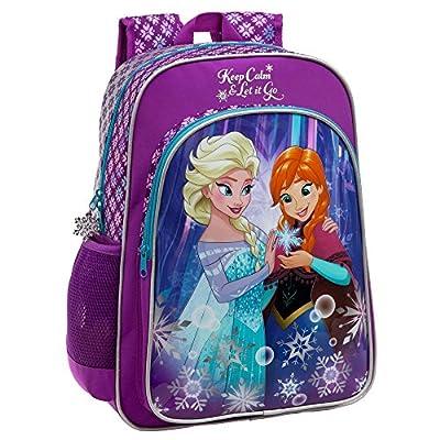 Disney 2512351 Frozen Keep Calm Mochila Escolar, 19.2 litros, Color Azul de Disney