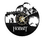 Atmosfera Squisita Hobbit Disco In Vinile Orologio Da Parete 3D Incisione Laser Casa Moda Arte Decorazione Puntualità Muta