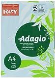 Rey Adagio Papel de impresión A4 160gsm, color azul claro (Pack de 250 hojas)