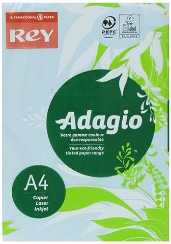 A4 160 Grammes - Rey 336883-BLV Adagio Ramette de 250 feuilles