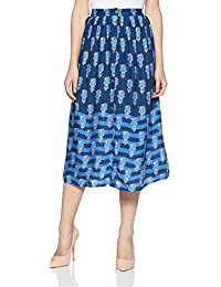Global Desi Women's A-Line Knee Long Skirt