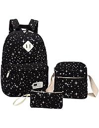 18cda32b75 Donna Multifunzionale Tela Zaino Casual Scuola Zaini Ragazza Canvas  Daypacks Backpack Zainetto 3 in 1