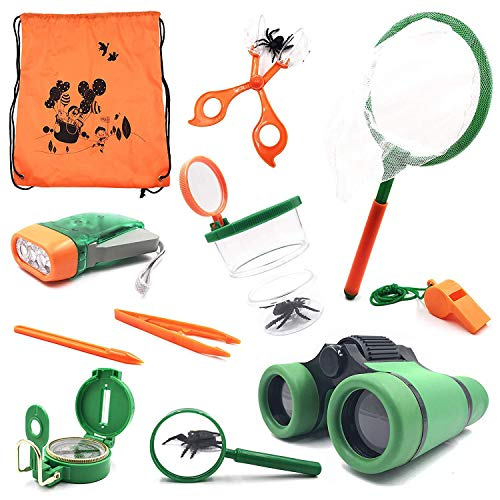 TOOGOO Outdoor Kit Spielzeug Fuer Kinder - Set von 12 Abenteuer Kid Camping Exploration Spielzeug, Outdoor Fuer Kinder, Camping Spielzeug Fuer Kinder, Geschenkbox