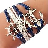 Meily Handmade Adjustable Multilayer Bracelet Wristband Gift
