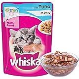 Whiskas Kitten (2-12 months) Wet Cat Food, Tuna in Jelly, 85g Pouch