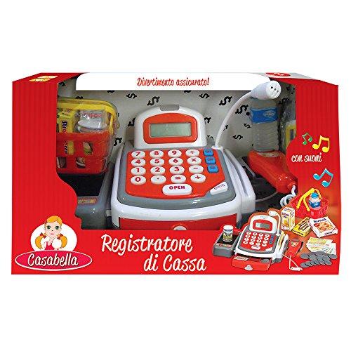 Rocco Spielzeug 21580534-Casabella Registrierkasse mit Licht, Sound und Zubehör